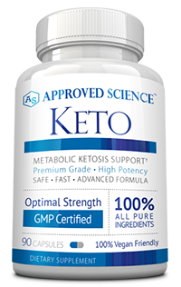 A bottle of Keto - natural Keto support supplement.